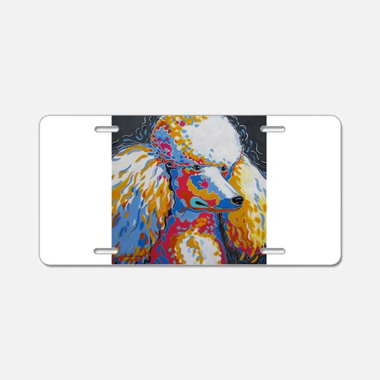 Daisy the Standard Poodle Aluminum License Plate