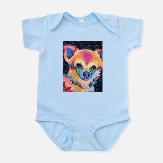 Neon Pomeranian or Chihuahua Portrait Body Suit