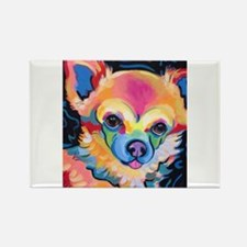 Neon Pomeranian or Chihuahua Portrait Magnets