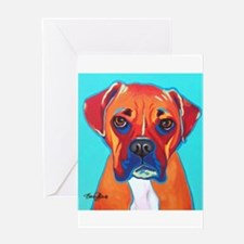 Bella The Boxer Greeting Cards