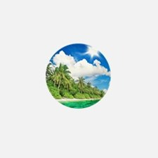 Tropical Island Mini Button