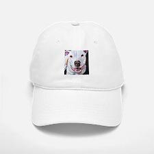Charlie The Pitbull Dog Portrait Baseball Baseball Cap