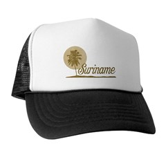 Palm Tree Suriname Trucker Hat