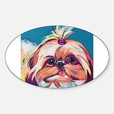 Pebbles the Shih Tzu Dog Art Decal