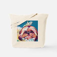 Pebbles the Shih Tzu Dog Art Tote Bag