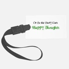 "Ostsg: ""Happy Thoughts"" Luggage Tag"
