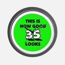 35th Birthday - Happy Birthda Wall Clock