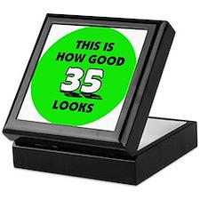 35th Birthday - Happy Birthda Keepsake Box