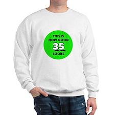 35th Birthday - Happy Birthda Sweatshirt
