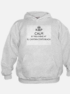 Keep calm by relaxing at El Capitan St Hoodie