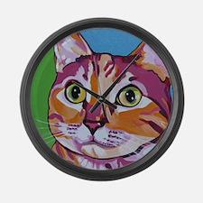 Pippa The Pop Art Kitty Cat Large Wall Clock