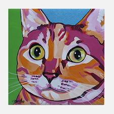 Pippa The Pop Art Kitty Cat Tile Coaster