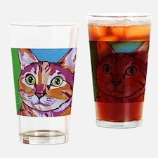 Pippa The Pop Art Kitty Cat Drinking Glass