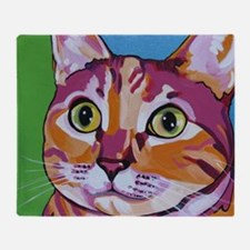Pippa The Pop Art Kitty Cat Throw Blanket