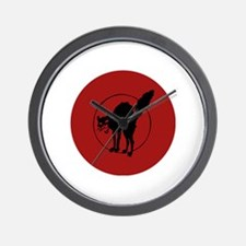 IWW Cat Logo Wall Clock