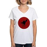 Iww cat Womens V-Neck T-shirts