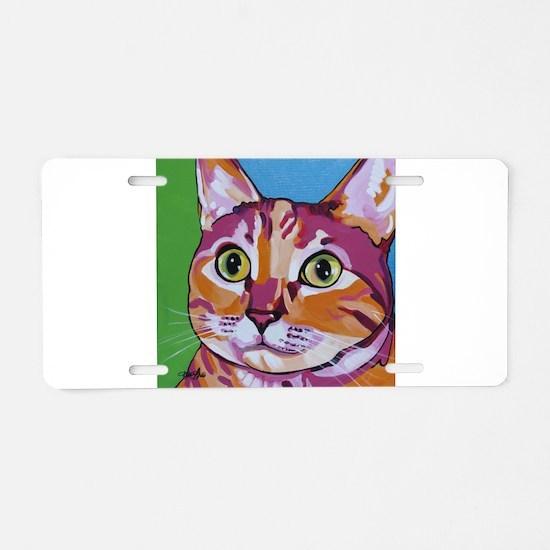 Pippa The Pop Art Kitty Cat Aluminum License Plate