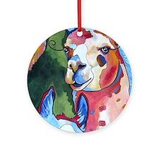 I'm in Llama Land Round Ornament