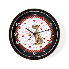Great Dane Brindle Kiss Wall Clock
