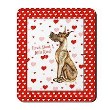 Great Dane Brindle Kiss Mousepad