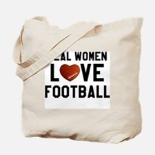Real Women Love Football Tote Bag