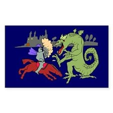 Fighting the Dragon Rectangle Decal
