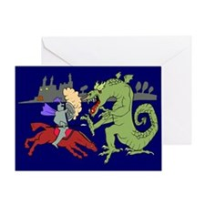 Fighting the Dragon Greeting Card