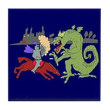 Fighting the Dragon Tile Coaster