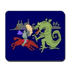 Fighting the Dragon Mousepad