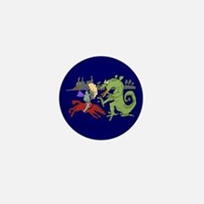 Fighting the Dragon Mini Button