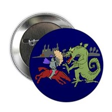 "Fighting the Dragon 2.25"" Button (10 pack)"