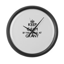 Keep calm by relaxing at Grant Ne Large Wall Clock