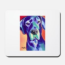 Gus The Great Dane with a Black Nose Mousepad