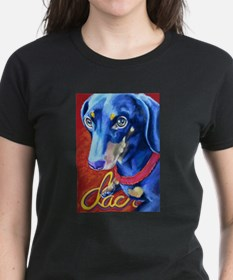 Dachshund Dog Art Portrait T-Shirt