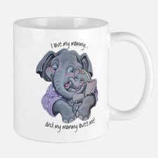 Mommy Elephant and Baby Mugs
