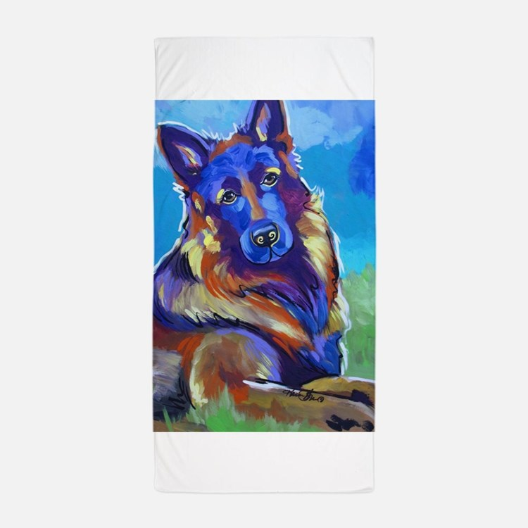 The Pop Art Shepherd Beach Towel