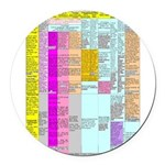 Residuals Chart Round Car Magnet