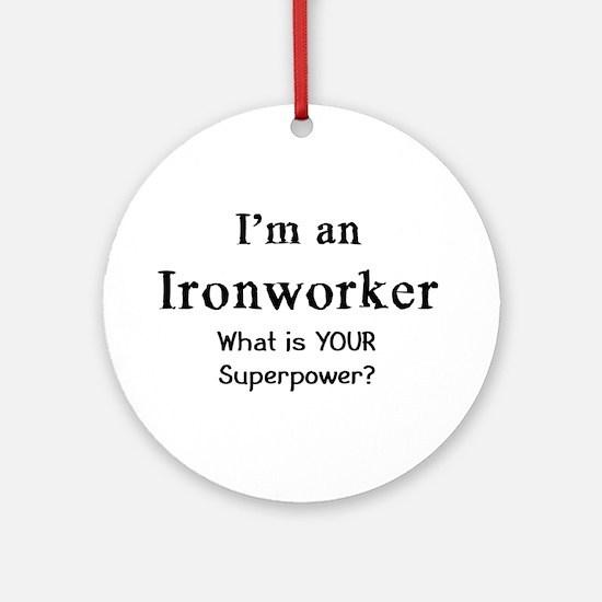 ironworker Round Ornament