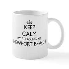 Keep calm by relaxing at Newport Beach Califo Mugs
