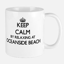 Keep calm by relaxing at Oceanside Beach Cali Mugs