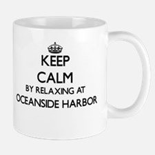 Keep calm by relaxing at Oceanside Harbor Cal Mugs