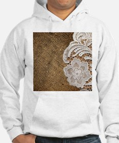 shabby chic burlap lace Jumper Hoody