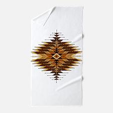 Native Style Orange Sunburst Beach Towel