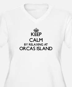 Keep calm by relaxing at Orcas I Plus Size T-Shirt