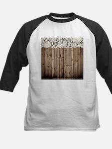 shabby chic lace barn wood Baseball Jersey