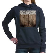 shabby chic lace barn wo Women's Hooded Sweatshirt