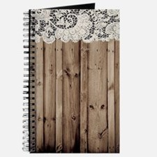 shabby chic lace barn wood Journal