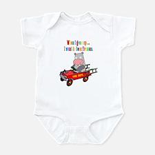 Fireman Hippo Fire Engine Infant Bodysuit