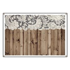 shabby chic lace barn wood Banner