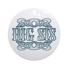 Big Sister Silver Buckle Ornament (Round)
